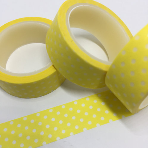 Super Value Polka Dots on Sunny Yellow 15mm