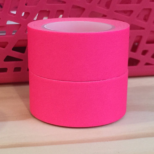 Wide Neon Brights Solid Colour Pink 20mm