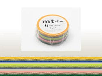 MT Slim Deco 6mm Masking Tape 3 Piece Set  B MTSLIM17