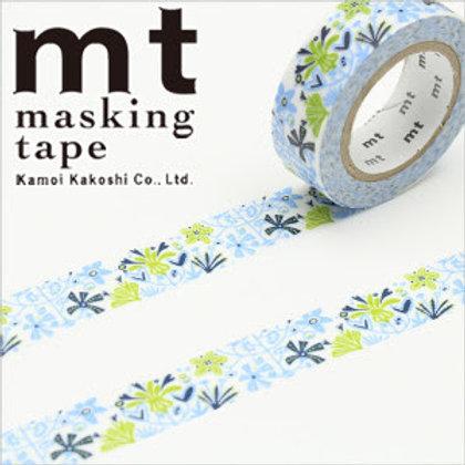 MT Masking Tape x Bengt & Lotta - Alma - Blue MTBELO08 15mm