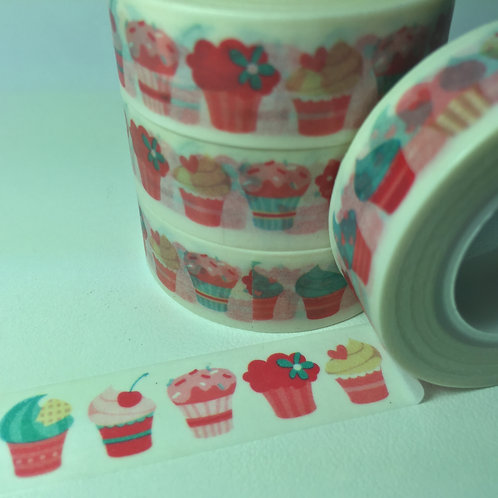 Pink & Mint Cupcakes 15mm