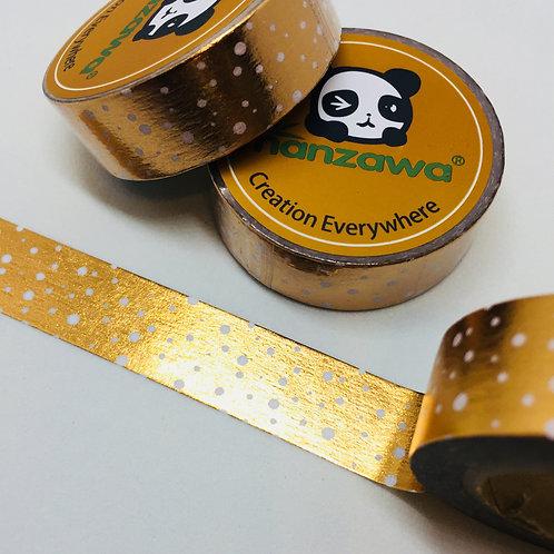 Confetti on Rose Gold Foil 15mm