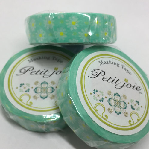 Petit Joie Japanese Washi Tape Margaret & Dots Green PJMT-15S044 15mm x 18mt