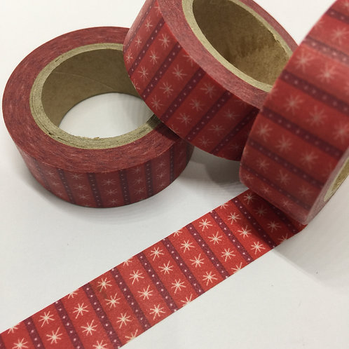 Red Starry Stripes 15mm