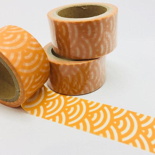 Wide Orange Japanese Wave 20mm
