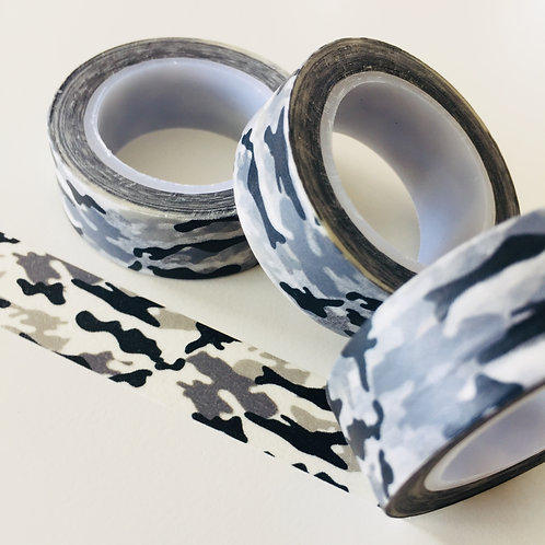 Black/Grey Camouflage 15mm