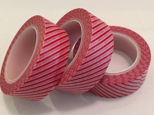 Fine Red Diagonal Stripe