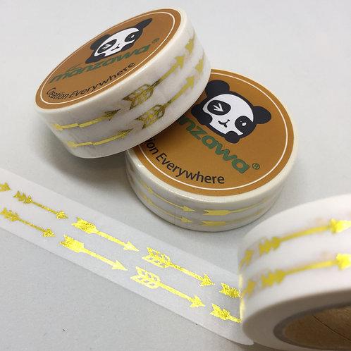 Gold Foil Double Arrows 15mm