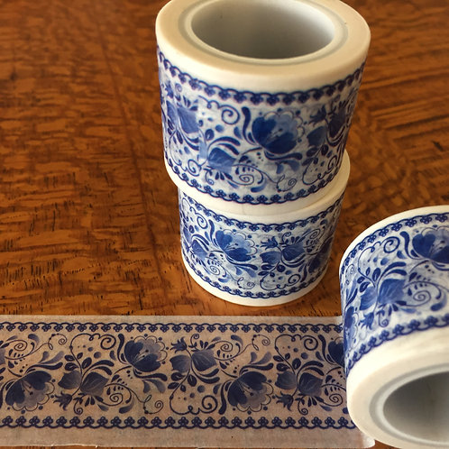 Wide Blue Delft 30mm
