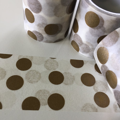 Extra Wide Big Gold Spots with Shadow 40mm