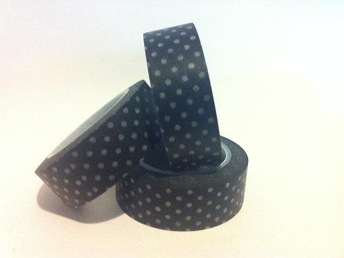 Polka Dots on Black 15mm