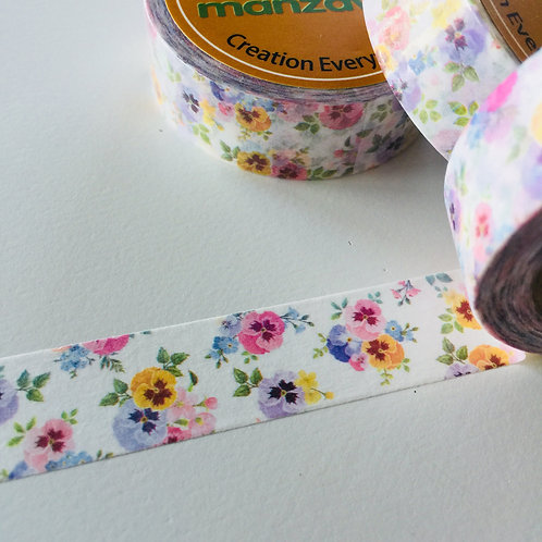 Pretty Pastel Pansies 15mm