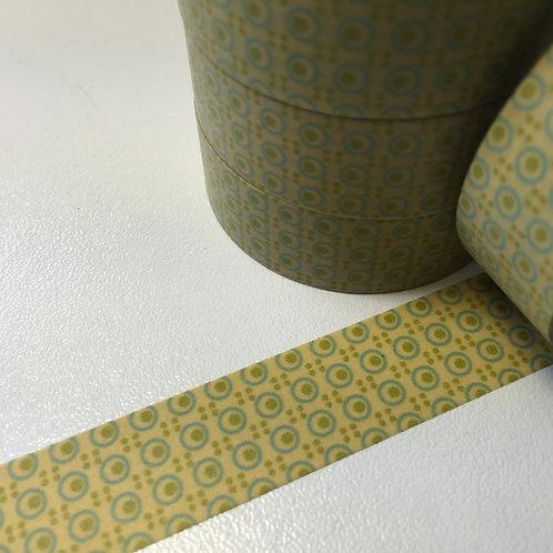 Small Circles on Mustard Border 15mm