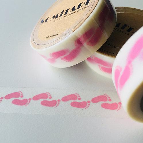 Somi Pink Baby Feet 15mm