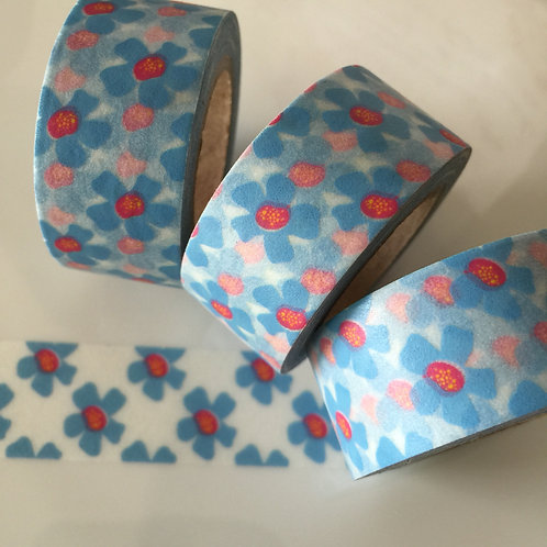 Wide Blue Daisy Floral 20mm