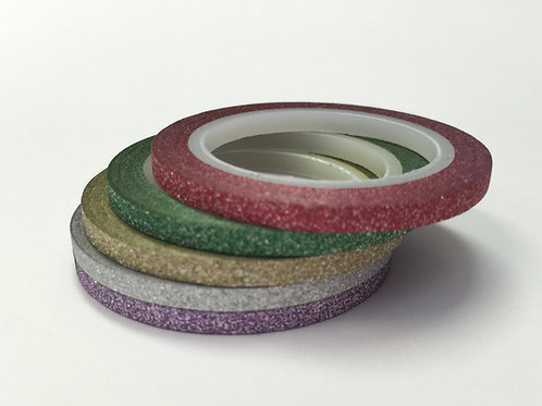 Really Skinny 5 Roll Glitter Set B - 3mm x 5mtrs