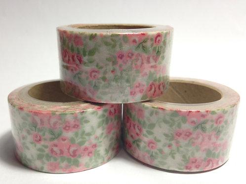 Wide Pink & Mint Floral 20mm