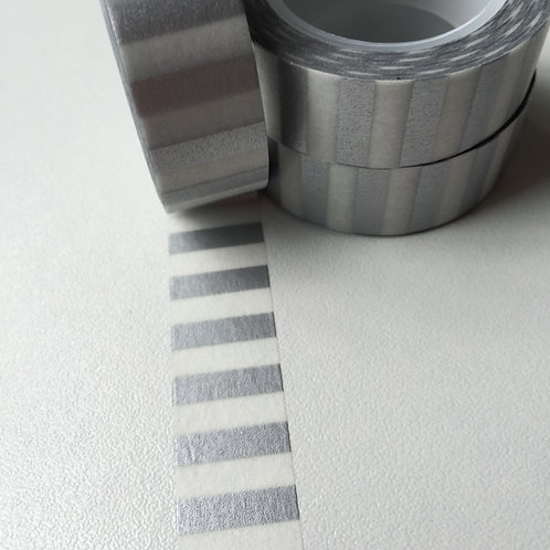 Silver Wide Stripe 15mm