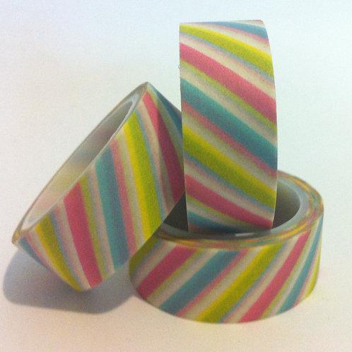 Pastel Diagonal Stripe 5 mtrs
