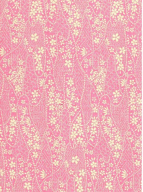 Premium Single Sheet - Chiyogami Pink Floral A4