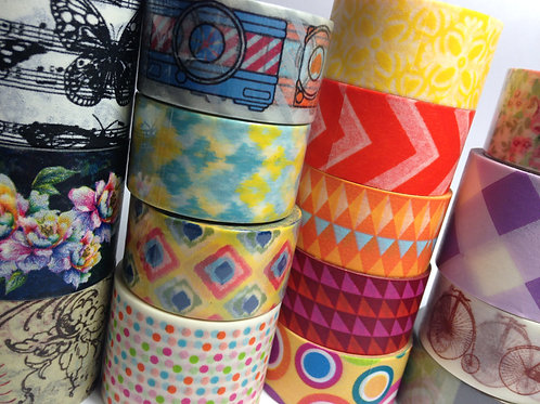 Wide Washi Samples x the 1/2 metre