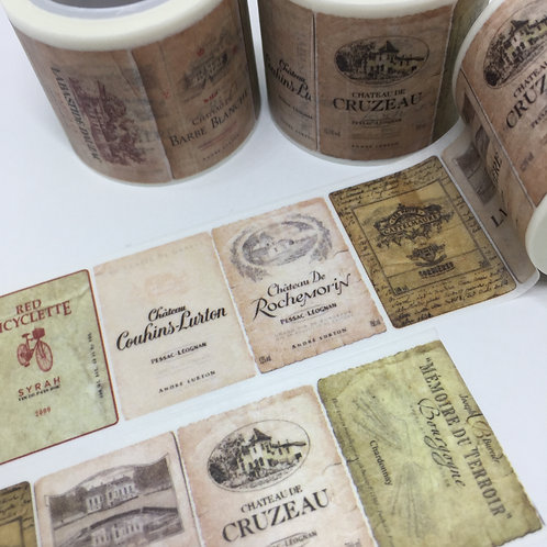 Wide Wine Labels 30mm