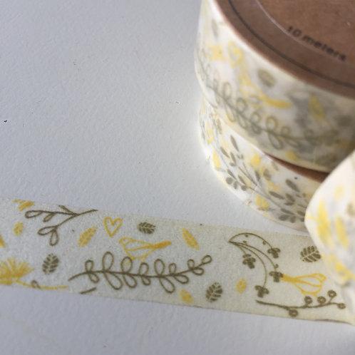Somi Lemon & Olive Floral with Dandelion 15mm