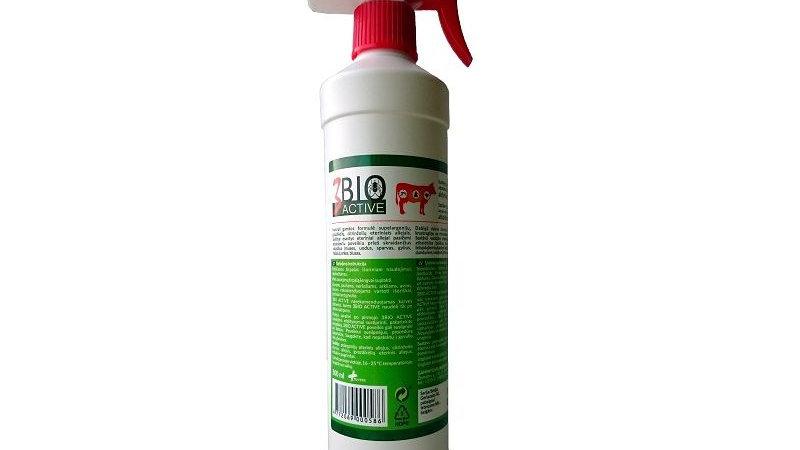 3 BIO ACTIVE  pret blusām, ērcēm, odiem, dunduriem 500 ml