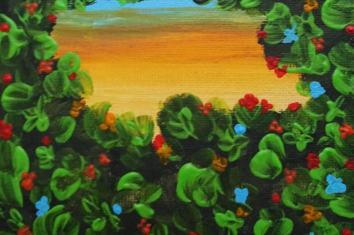 Save The Nature's Colors opera n. 16/2019 acrilico su tela 10x10. Opera per il progetto Opus Magnum di Manuel Carriòn.