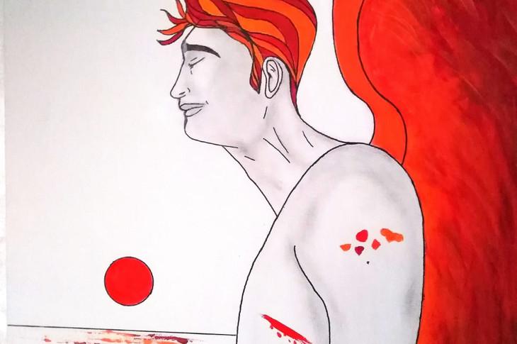 L'angelo ferito,opera n.3/2019