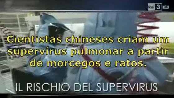 TV italiana mostrou que o novo coronavírus foi criado em laboratório pela China? É falso