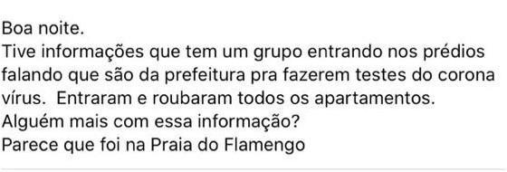 É falso o relato de assalto em prédio na Praia do Flamengo com assaltantes vestidos de agentes da pr