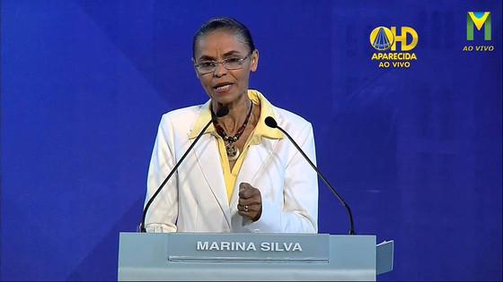"""Marina Silva: """"foram mais de mil feminicídios, 200 mil mulheres agredidas e 60 mil estupros"""". Inform"""