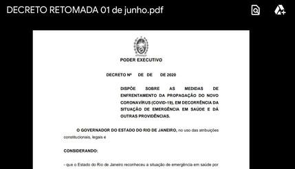 Governador do RJ decretou em 1° de junho quando reabrirá comércio? É falso