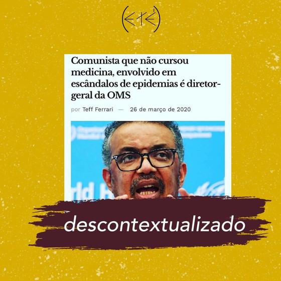 Quem é o diretor-geral da Organização Mundial da Saúde?