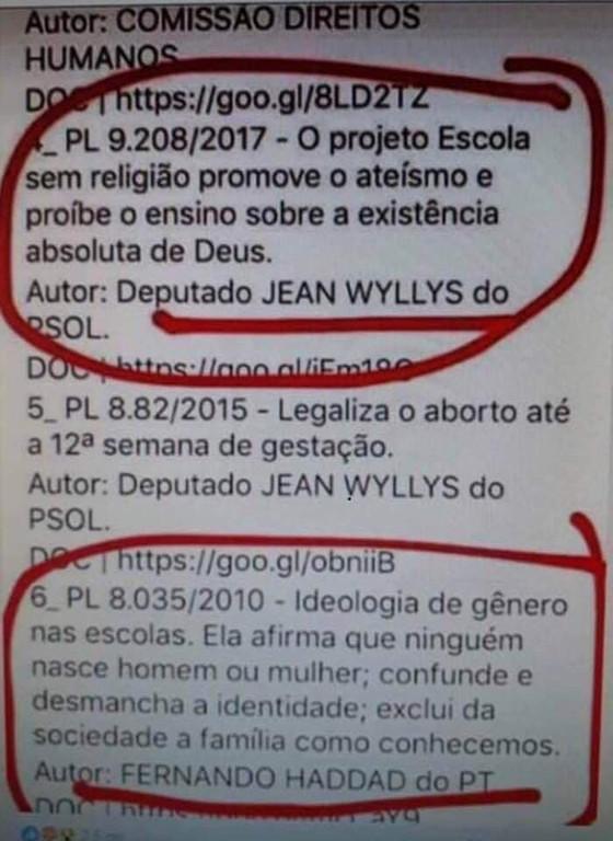 Projeto de Jean Willys propõe uma escola sem religião e promove ateísmo. Checamos. É falso!