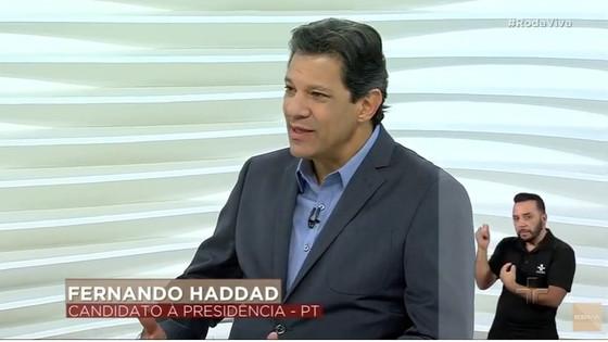 """Fernando Haddad no Roda Viva: """"meu adversário tem como herói o torturador mais bárbaro da ditadura m"""