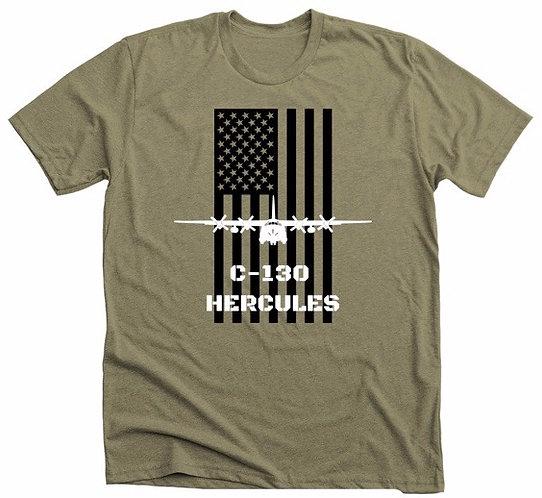 C-130 Hercules American Flag Shirt