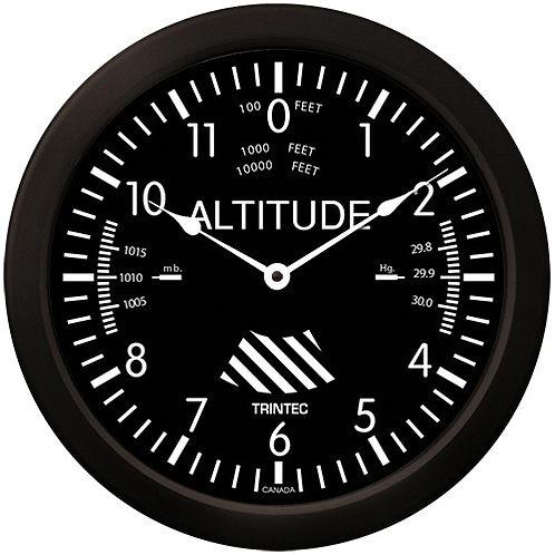 """14"""" Classic Altimeter Clock"""