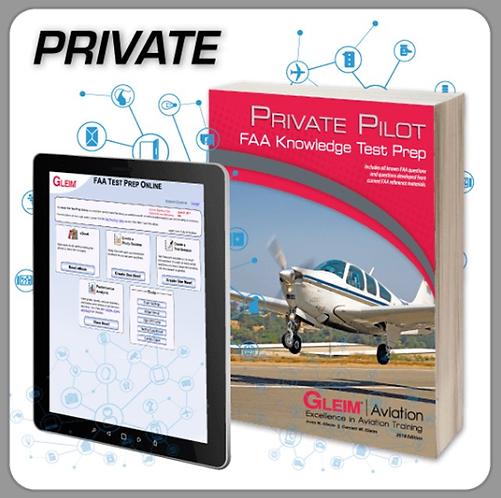 GLEIM 2020 Private Pilot Knowledge Test Prep Online and Book Set