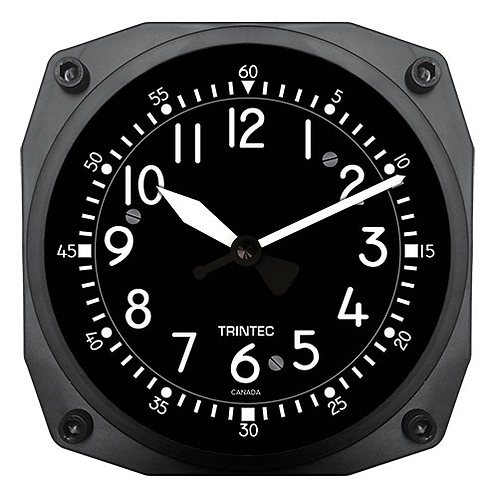 "6"" Cockpit Instrument Style Clock"