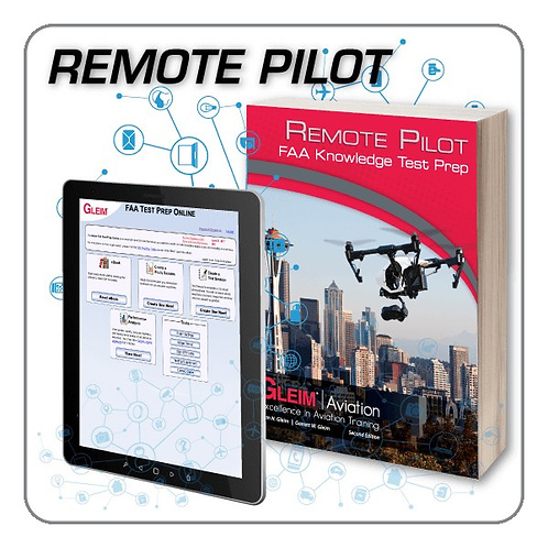 GLEIM 2020 Remote Pilot Knowledge Test Prep Online and Book Set
