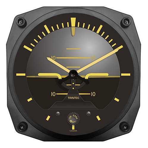 "6"" Vintage Artificial Horizon Instrument Style Clock"
