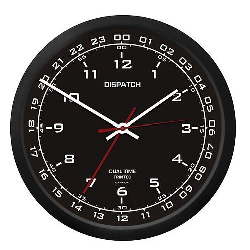 """10"""" Dispatch Dual Time Clock (Zulu) - Black"""