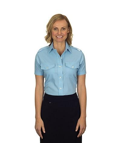 Aviator Women's Shirt (Short-Sleeved, Blue)