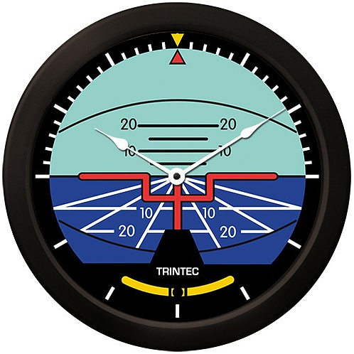 "14"" Classic Artificial Horizon Clock"