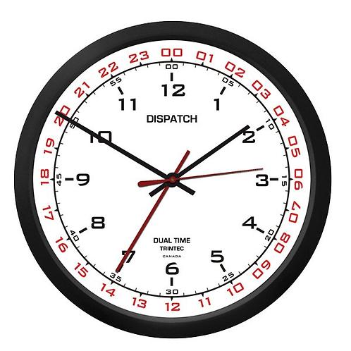 """10"""" Dispatch Dual Time Clock (Zulu) - White"""