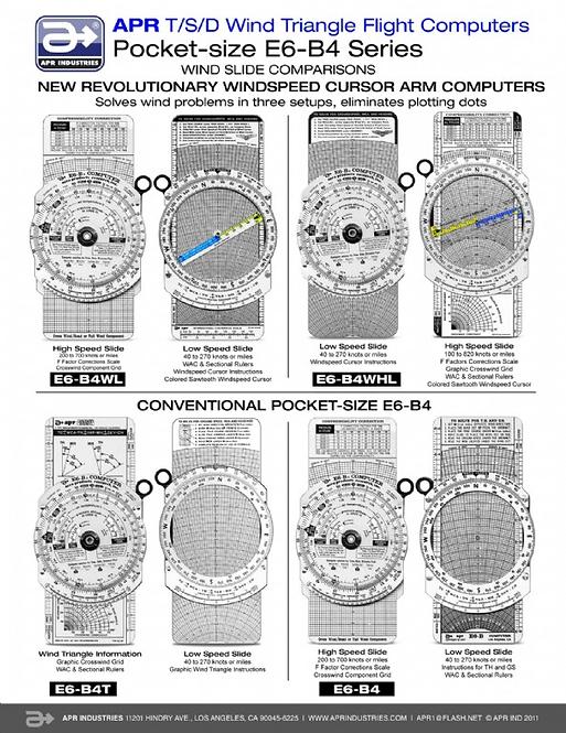 Pocket Size Flight Computer - E6B4 & Variations