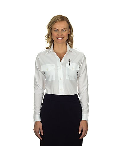 Aviator Women's Shirt (Long-sleeved, White)