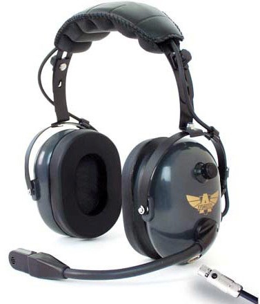 General Aviation / Helicopter Combo Headset w/ Flex Boom